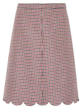RED Valentino Checked wool and silk-blend skirt
