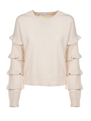 RED Valentino Frilled Sleeve Sweater
