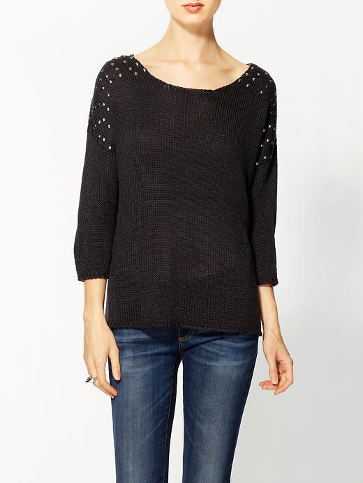 Matty M Studded Pullover Sweater