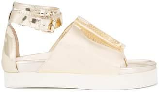 Ellery metallic ankle strap sandals