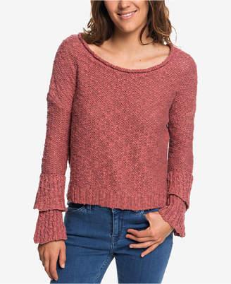 Roxy Juniors' Cotton Ruffle Party Sweater