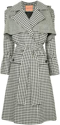 Maggie Marilyn gingham trench coat