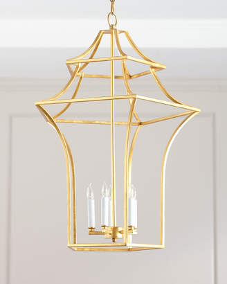 Claudia Gold Leaf Pagoda Chandelier