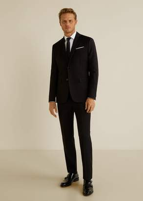 MANGO MAN - Slim fit Tailored cotton shirt white - XXS - Men
