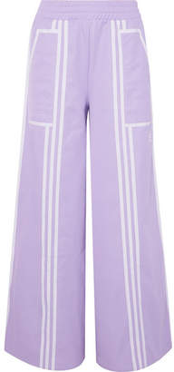 adidas Ji Won Choi Striped Cotton-blend Jersey Wide-leg Track Pants - Lilac