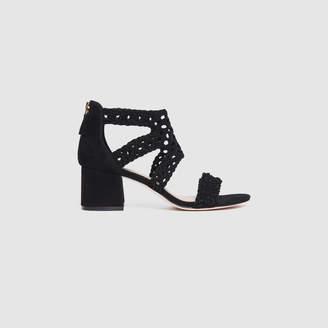 Sandro Woven mid-heel sandals
