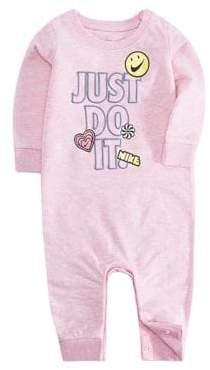 Nike Baby Girl's Doodle French Terry Coveralls