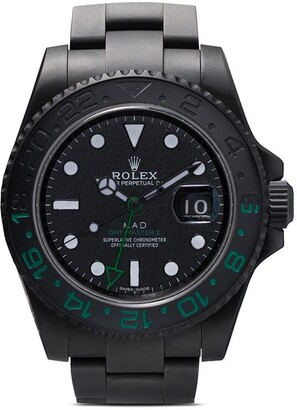 Rolex MAD Paris black, white and green GMT master II watch