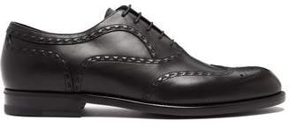 Bottega Veneta Leather Brogues - Mens - Black