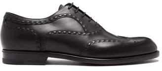 Bottega Veneta - Leather Brogues - Mens - Black