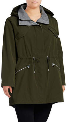 Vince Camuto Plus Plus Hooded Poly-Fill Anorak