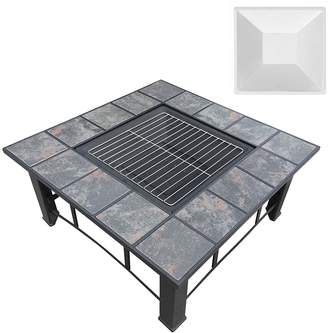 Gardeon Fire Pits Courtsend 4-in-1 Outdoor Table