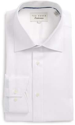 Ted Baker Endurance Trim Fit Herringbone Dress Shirt