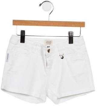 Armani Junior Girls' Stretch Mini Shorts