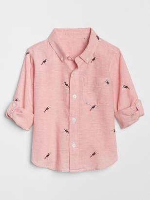 Gap Bird Convertible Button-Down Shirt