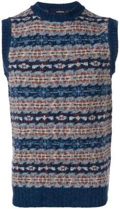 Lardini patterned sleeveless sweater