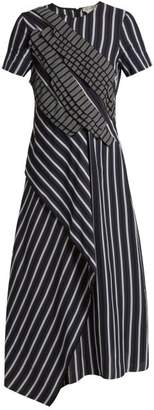Sportmax Striped draped crepe dress