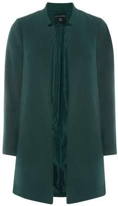 Green Notch Neck Coat $99 thestylecure.com