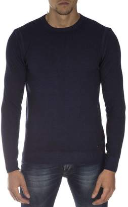 Frankie Morello Navy Cotton Sweater
