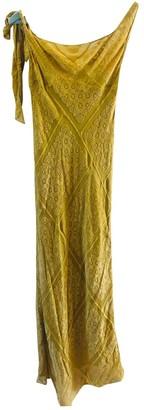 Maison Margiela Yellow Velvet Dresses