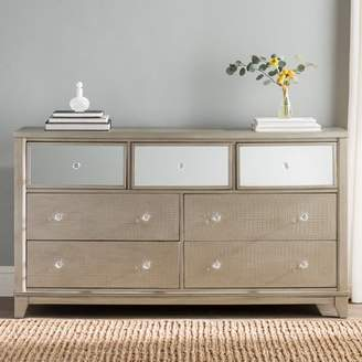 Willa Arlo Interiors Rogers 7 Drawer Dresser with Mirror