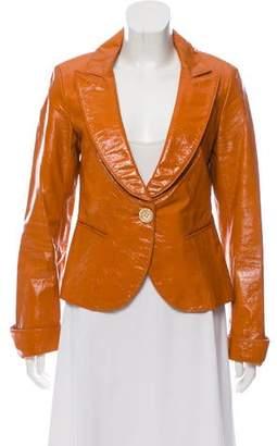 Lafayette 148 Glossed Leather Blazer