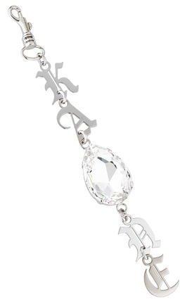 Christopher KaneChristopher Kane Logo Jewel-Embellished Keychain