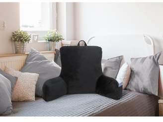 Mainstays Micro Mink Backrest with Pocket, Rich Black