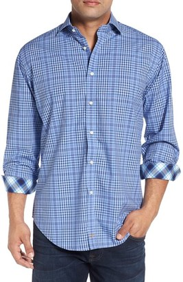Men's Thomas Dean Classic Fit Plaid Sport Shirt $110 thestylecure.com