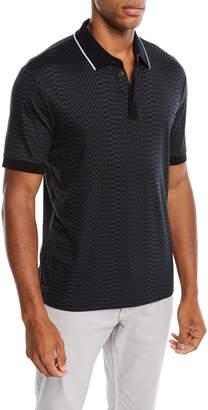 Men's Geo-Printed Polo Shirt