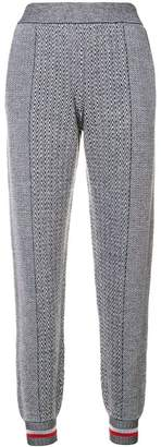 Stella McCartney tapered zig-zag track pants