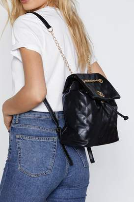 Nasty Gal WANT Quilt Trip Chain Backpack