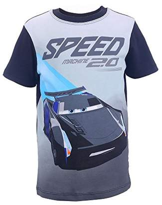 Disney Cars Boy's 99227 T-Shirt, (Black 090)