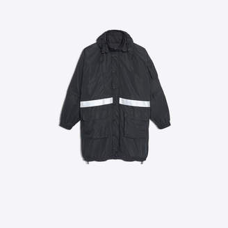 Balenciaga Technical fabric parka with hood and reflecting bands