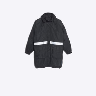 Balenciaga Technical fabric parka with hood and reflecting bands