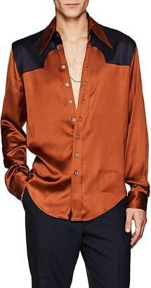 Maison Margiela Men's Satin Western Shirt