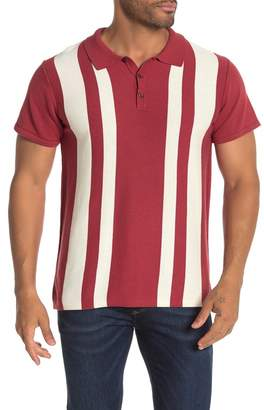 Jack and Jones Short Sleeve Stripe Print Knit Polo