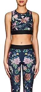 Ultracor Women's Floral Crop Top-Navy