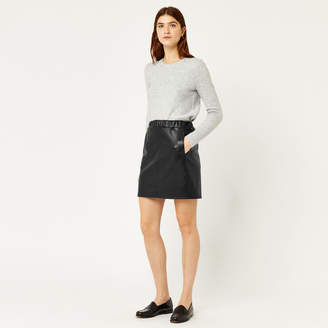 Warehouse Ruched Faux Leather Skirt