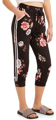 Eye Candy Juniors' Printed & Solid Peached Capri Joggers