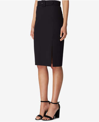 Tahari ASL Belted Pencil Skirt
