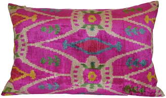Orientalist Home Livia Ikat 16x24 Pillow - Pink