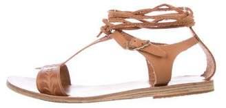 Ancient Greek Sandals Leather Buckle Sandals