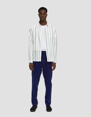 Saturdays NYC Mickey Tencel Stripe Button Up Shirt