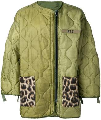 R 13 short quilted coat