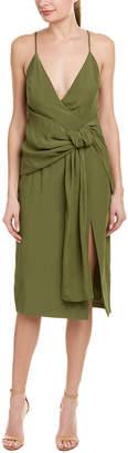 C/Meo Collective Tie-Front Midi Dress