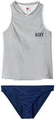 Roxy Kids Downtown Lights Tankini Set Girl's Swimwear Sets