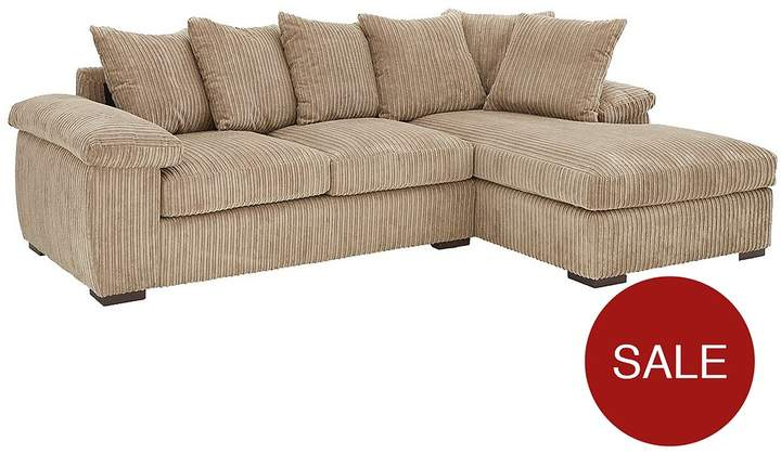 Amalfi 3 Seater Right Hand Scatter Back Fabric Corner Chaise Sofa