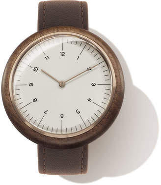 "Auteur Rose Gold & Walnut Wood Watch ""Revolution IV"""