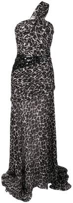 Pinko leopard print evening dress